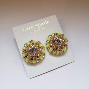 Kate Spade Large Yellow-Green Crystal Earrings